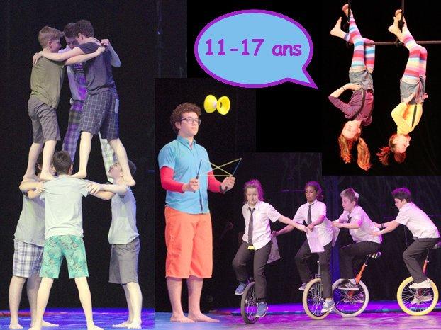 A Flip Flap pour les jeunes de 11-17 ans cours de cirque