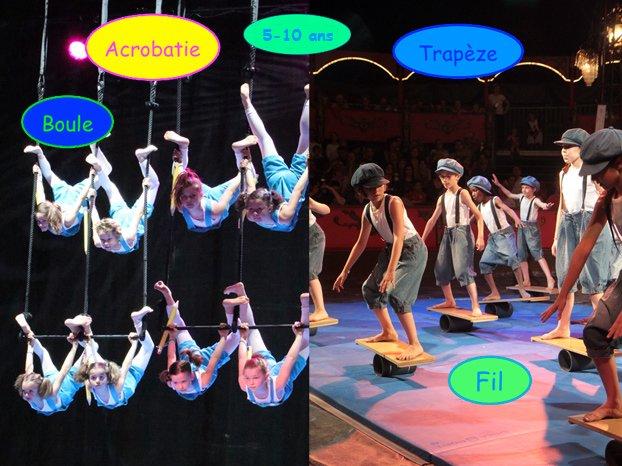 A Flip Flap Circus pour les enfants de 5 à 10 ans
